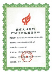 Cartoning Machine Certificate 9